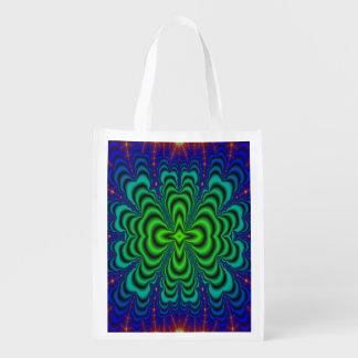 Tubos verdes de neón del espacio del fractal del bolsa para la compra