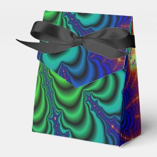 Tubos verdes de neón del espacio del fractal del caja para regalos