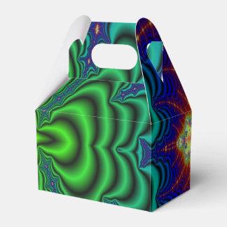 Tubos verdes de neón del espacio del fractal del cajas para regalos