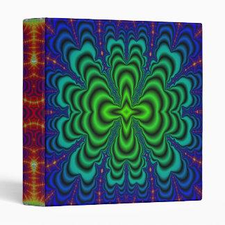 Tubos verdes de neón del espacio del fractal del carpeta 2,5 cm