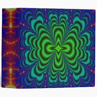 Tubos verdes de neón del espacio del fractal del carpeta 5 cm