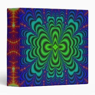 Tubos verdes de neón del espacio del fractal del W