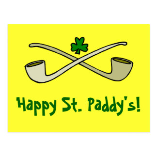 Tubos y la postal de St Patrick del trébol