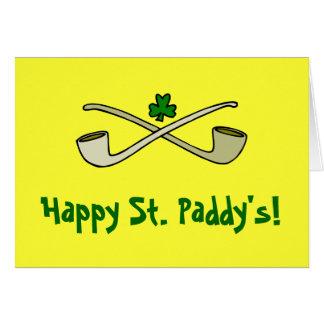 Tubos y tarjeta de felicitación de St Patrick del