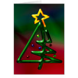 Tubular Chrome Christmas Tree Card