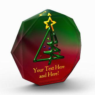 Tubular Chrome Christmas Tree Customizable Award