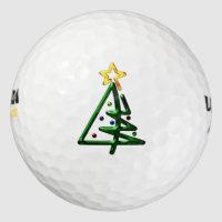 Tubular Chrome Christmas Tree Golf Balls