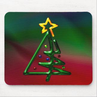 Tubular Chrome Christmas Tree Mouse Pad