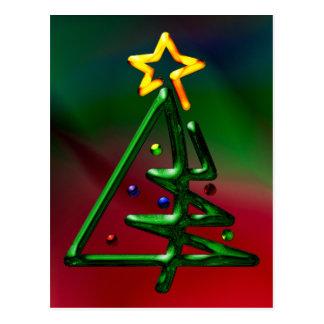 Tubular Chrome Christmas Tree Postcards
