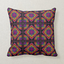 Tubular Fractals Medium Repeat Throw Pillow