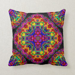 Tubular Fractals Throw Pillow