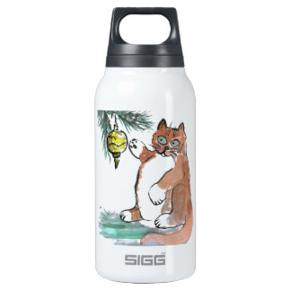 Tuby, the kitten, Taps a Gold Ornament Insulated Water Bottle