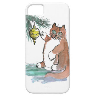 Tuby, the kitten, Taps a Gold Ornament iPhone SE/5/5s Case