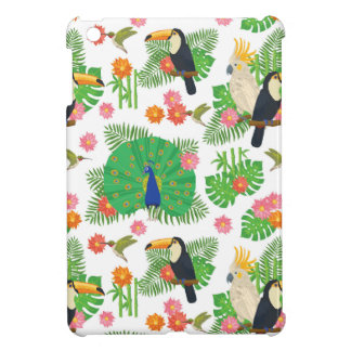 Tucan And Peacock Pattern Case For The iPad Mini