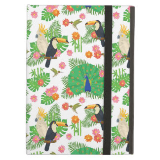 Tucan And Peacock Pattern iPad Air Cover