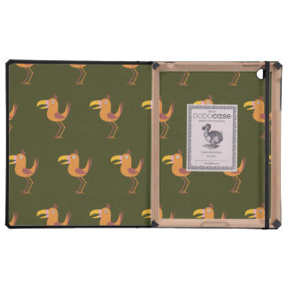 Tucan Bird dark green iPad Folio Cases