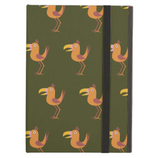 Tucan Bird dark green iPad Air Cover