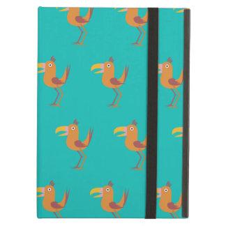 Tucan Bird teal iPad Air Covers