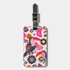 Tucan Exotic Bird Illustration Pattern Bag Tag at Zazzle