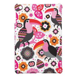 Tucan exotic bird illustration pattern iPad mini cover