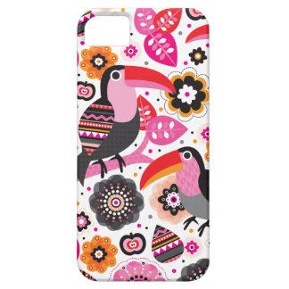 Tucan exotic bird illustration pattern iPhone 5 cases