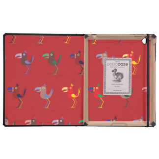 Tucan Mix Red iPad Covers