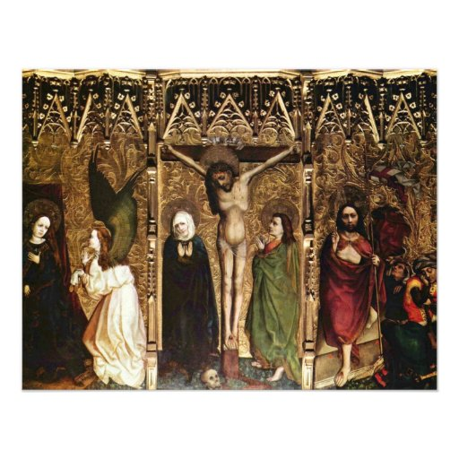 Tuchers Altar Middle Panel Of Scenes: The Annuncia Invitations