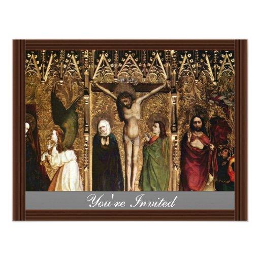 Tuchers Altar Middle Panel Of Scenes: The Annuncia Invite