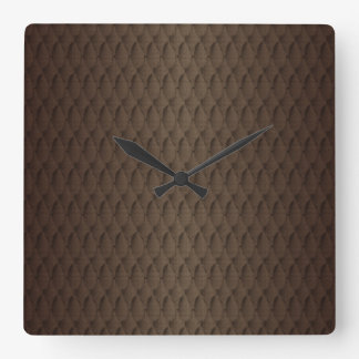 Tuck and Roll Square Wall Clock