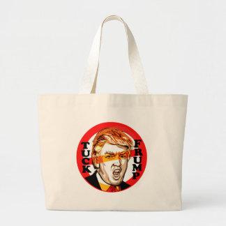 Tuck Frump Ant-Donald Trump 2016 Large Tote Bag