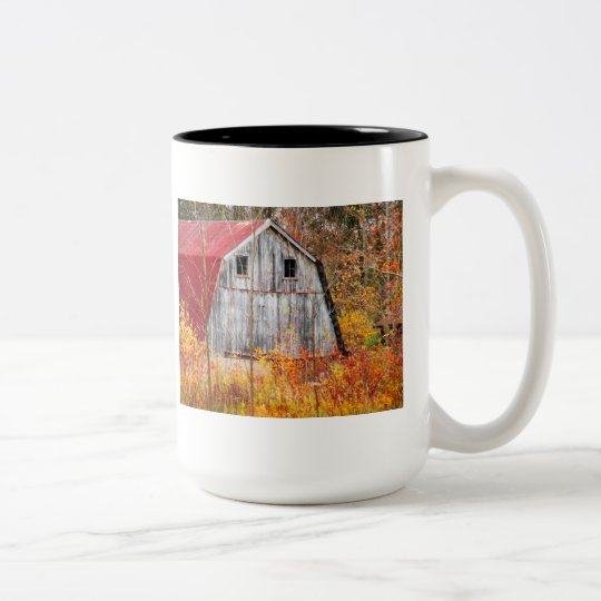 Tucked Away Two-Tone Coffee Mug