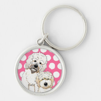 Tucker and Scout PetCature Portrait Silver-Colored Round Keychain