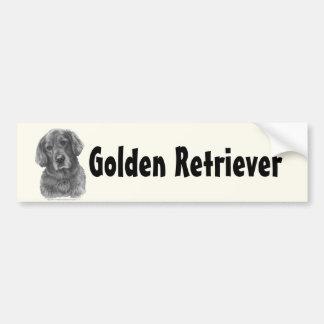 Tucker, Golden Retriever Car Bumper Sticker