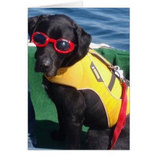 Tucker in Goggles Conservation Canines Labrador Card