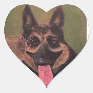 Tucker Pegatina En Forma De Corazón