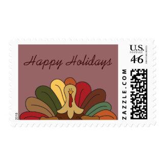 Tucker Turkey Happy Holidays Postage