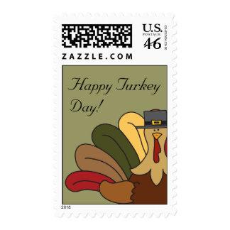 Tucker Turkey Happy Turkey Day Postage