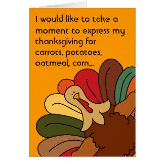 Tucker Turkey Vegetarian Thanksgiving Card