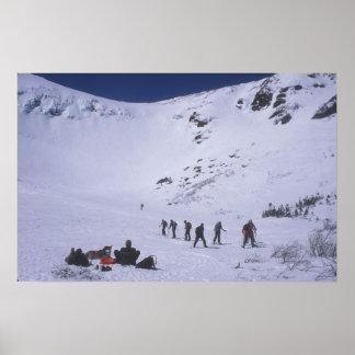 Tuckermans Ravine Mount Washington Poster