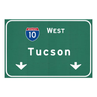 Tucson Arizona az Interstate Highway Freeway : Photo Print