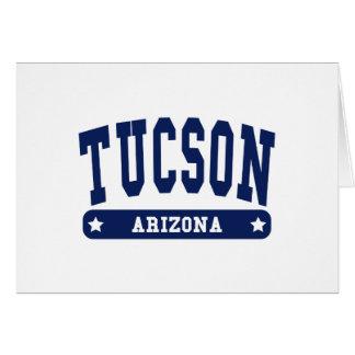 Tucson Arizona College Style tee shirts Cards