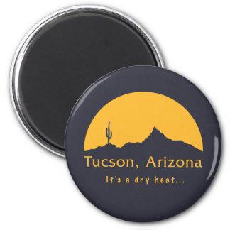 Tucson, Arizona - es un calor seco… Imán Redondo 5 Cm