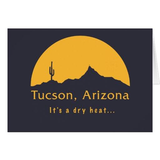 Tucson, Arizona - es un calor seco… Tarjeta De Felicitación