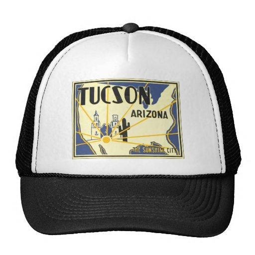 Tucson Arizona la ciudad de la sol, vintage Gorro