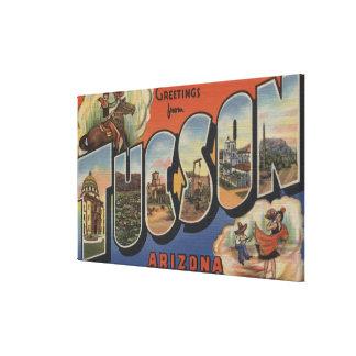 Tucson, Arizona - Large Letter Scenes 2 Canvas Print