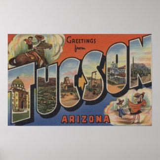 Tucson, Arizona - Large Letter Scenes 2 Poster
