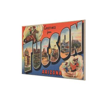 Tucson, Arizona - Large Letter Scenes Canvas Print