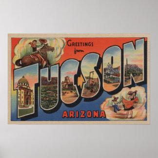 Tucson, Arizona - Large Letter Scenes Poster