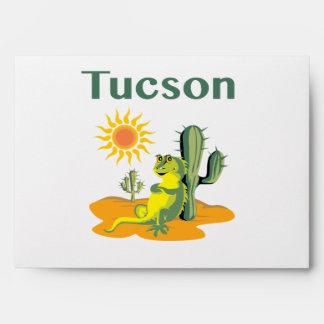 Tucson Arizona Lizard under Saguaro Envelope