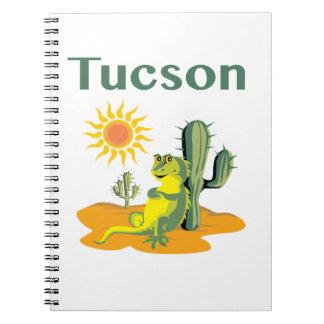 Tucson Arizona Lizard under Saguaro Notebook